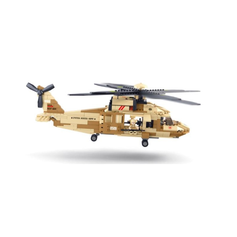 439 Uds Kit avión militar Sluban figuras modelo Set bloques de construcción compatibles ciudad ladrillos juguete educativo para niños regalo