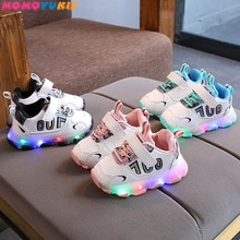 Size 21-30 Children LED Sneakers With Light Up sole Baby Led Luminous Shoes for Girls /Glowing Light