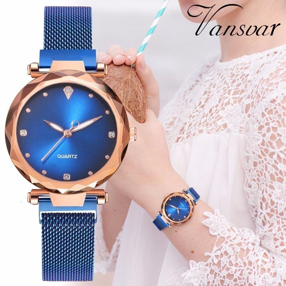 Women Magnet Buckle Starry Sky Watch Luxury Ladies Stainless Steel Quartz Watch Relogio Feminino Hot Selling