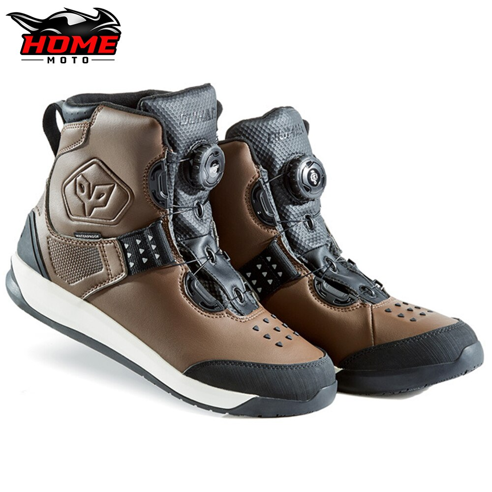 DUHAN موضة دراجة نارية أحذية المياه برهان دراجة نارية معدات تنفس دراجة نارية أحذية ل موتوكروس عاكس حذاء رجالي