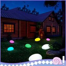 Lampes de lumière solaire pierre de galets lampe lumière LED éclairage solaire télécommande coloré décoration de jardin nouvelle boule de piscine