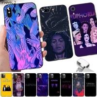 fhnblj american tv series euphoria soft phone case capa for iphone 8 7 6 6s plus x 5s se 2020 xr 11 12 pro xs max