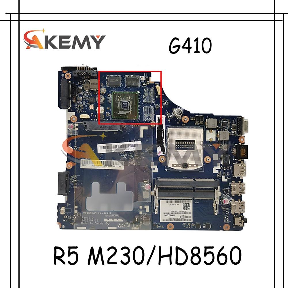 Akemy VIWGQ/GS LA-9641P اللوحة لينوفو G410 اللوحة الأم PGA947 HM87 بطاقة الفيديو R5 M230/HD8560 100% اختبار العمل