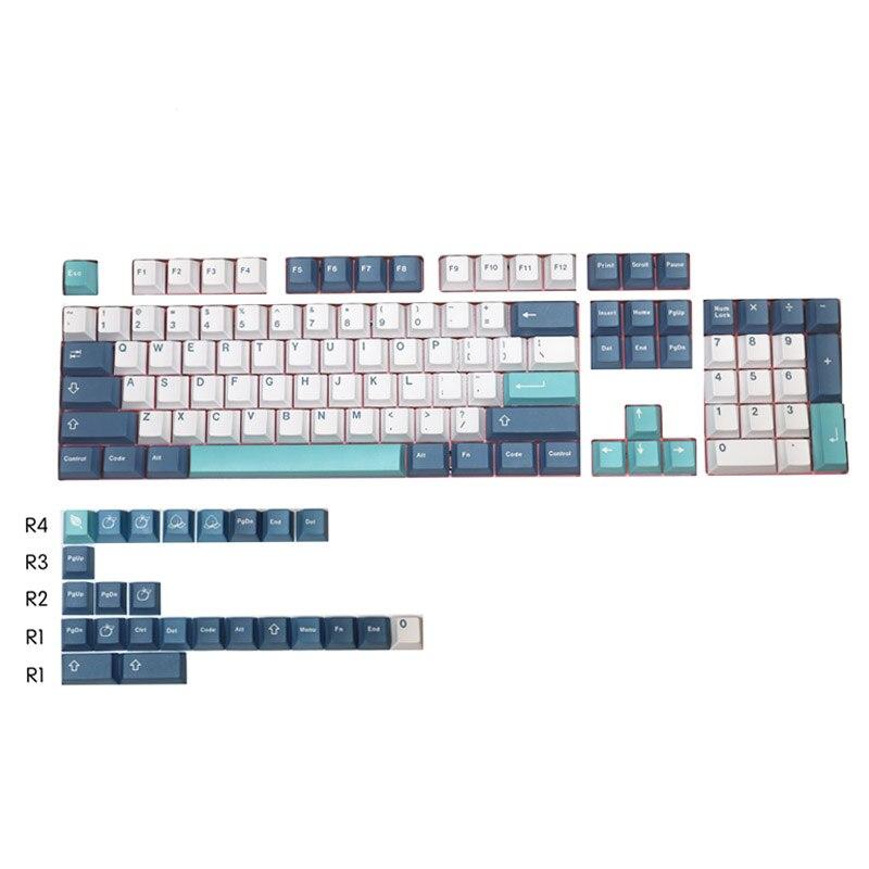 لوحة المفاتيح الميكانيكية صافرة Keycap مناسبة الكرز MX التبديل خمسة الوجهين التسامي PBT Keycap 129 مفاتيح Keycap الأصلي