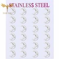 fashion cross stud earrings punk jewelry for cool women girl men friendship gifts stainless steel woman ear piercing earing