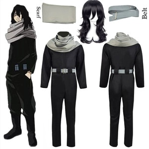 Anime My Hero Academia Aizawa Shouta Cosplay Costume Halloween Party Suit Custom Made Jumpsuits Set For Cartoon Black Outfit