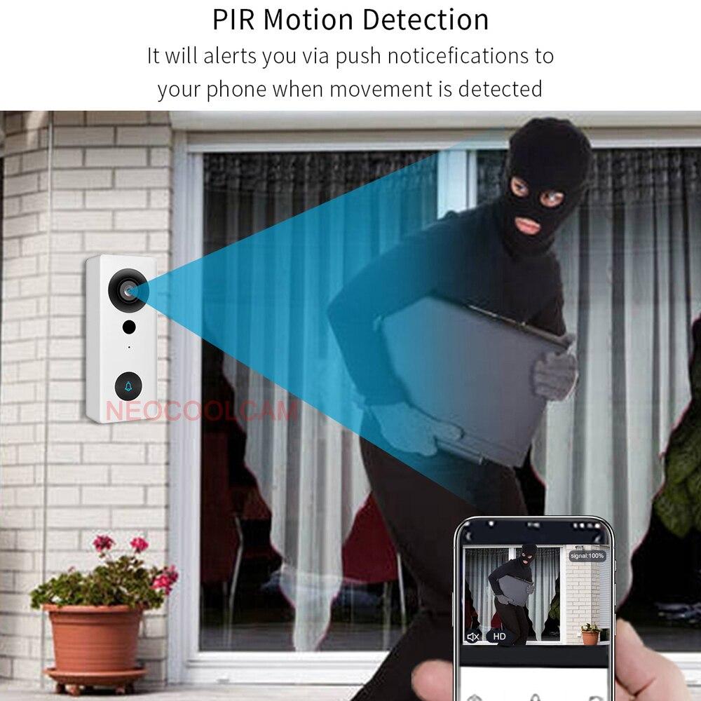 NEOCoolcam 1080P HD Waterproof Video Doorbell Intercom Smart Wireless WiFi Camera Night Vision Tuya Smart Life APP enlarge