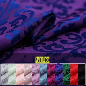 Silk fabric 22mm jacquard silk heavy crepe mulberry silk dress cheongsam dress silk fabric DIY sewing