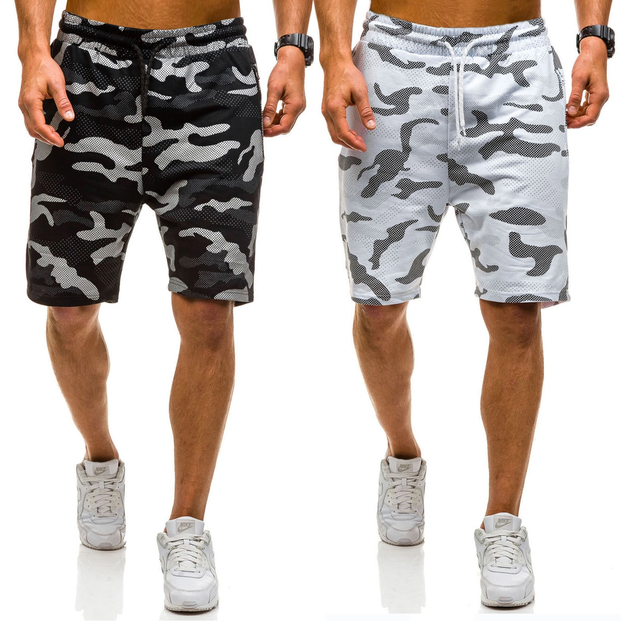 Men's brand new personalized fashion business casual camouflage pants sport pants casual pants shorts men sweatpants joggers