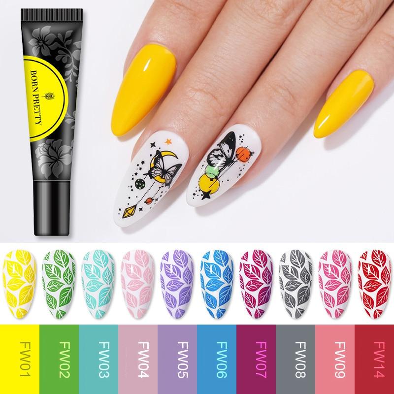 BORN PRETTY Stamping Gel Nail Polish Painting UV DIY Image Print Art Design For Manicure