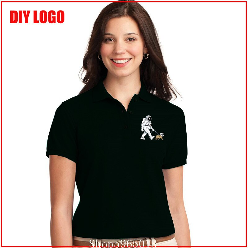 Polo The Walking Dead para mujer, camiseta polo para hombre StarmanX Space Dog, astronauta, perro, genial cohete, camisetas