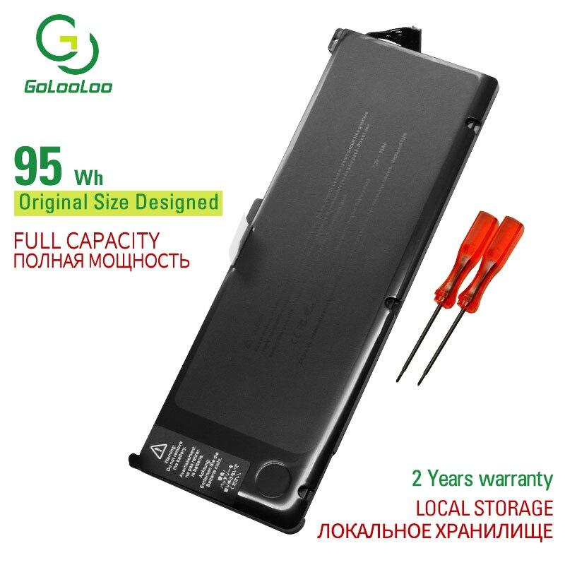 Golooloo 95wh 7.4 v bateria do portátil a1309 para apple macbook pro nb604 a1297 mc226 */a mc226ll/a mc226j/a series