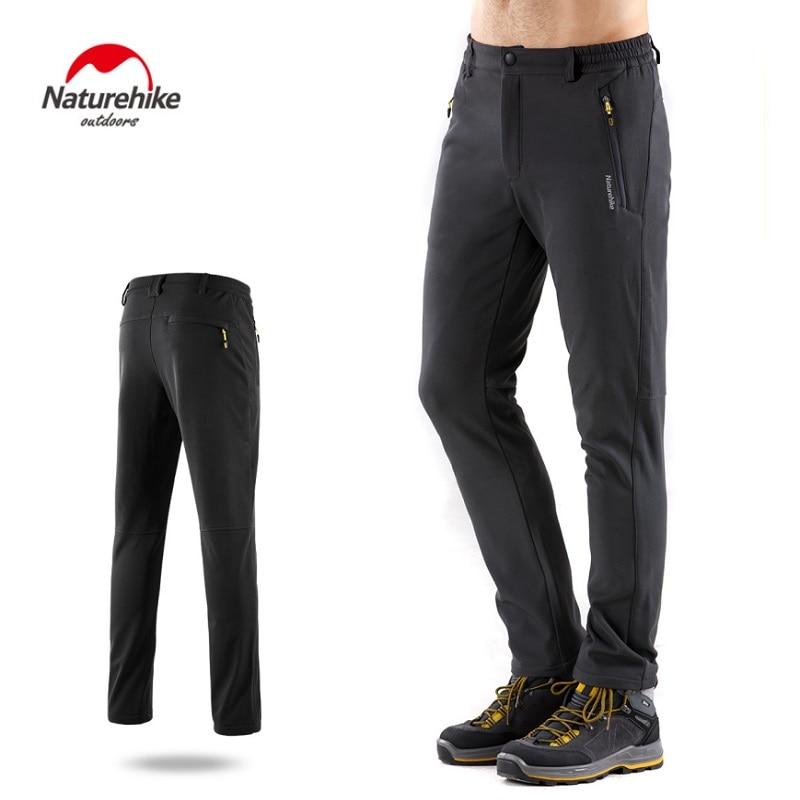 Pantalones de senderismo de invierno Naturehike suave cáscara impermeable a prueba de viento pantalones de senderismo hombres mujeres Camping esquí