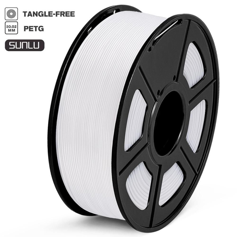 PETG Filament 1kg 1.75mm Tolerance +/-0.02mm High Strength 100% No Bubble FDM 3D Printer Printing Material 320m/Roll White Color