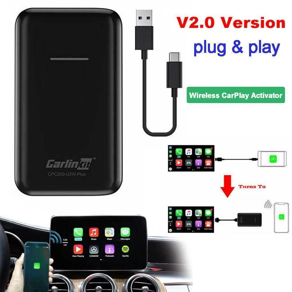 Carlinkit-Apple CarPlay IOS 13 2.0 USB ، تحديث لاسلكي ، اتصال تلقائي للسيارة ، OEM ، أصلي ، سلكي ، CarPlay لاسلكي ، أسود