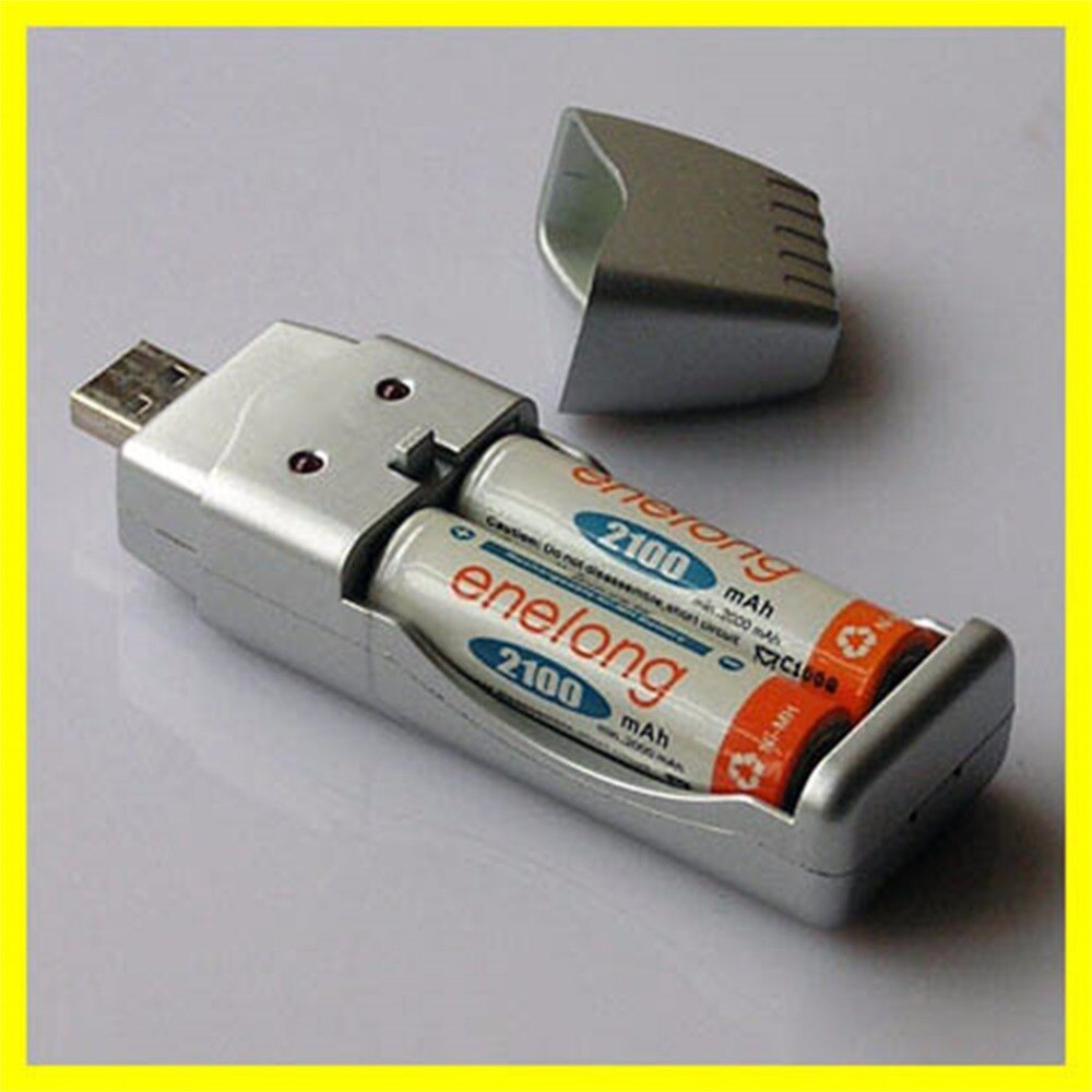 Cargador USB de 1 unidad para Ni-MH AA AAA 2A 3A, conveniente, portátil, carga, batería, dispositivos, cargador de batería nuevo