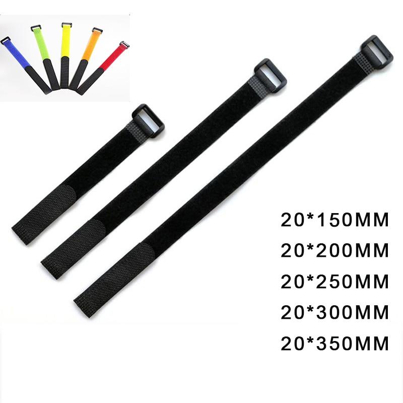 10 Uds Nylon hebilla de Velcro gancho mágico fijador de Velcro Cable...