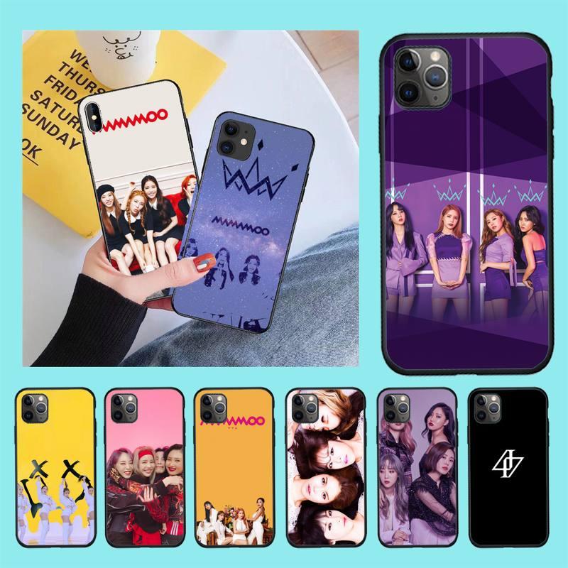 Nbdruicai coreano kpop mamamoo luxo design exclusivo capa de telefone para iphone 11 pro xs max 8 7 6 s plus x 5S se xr caso