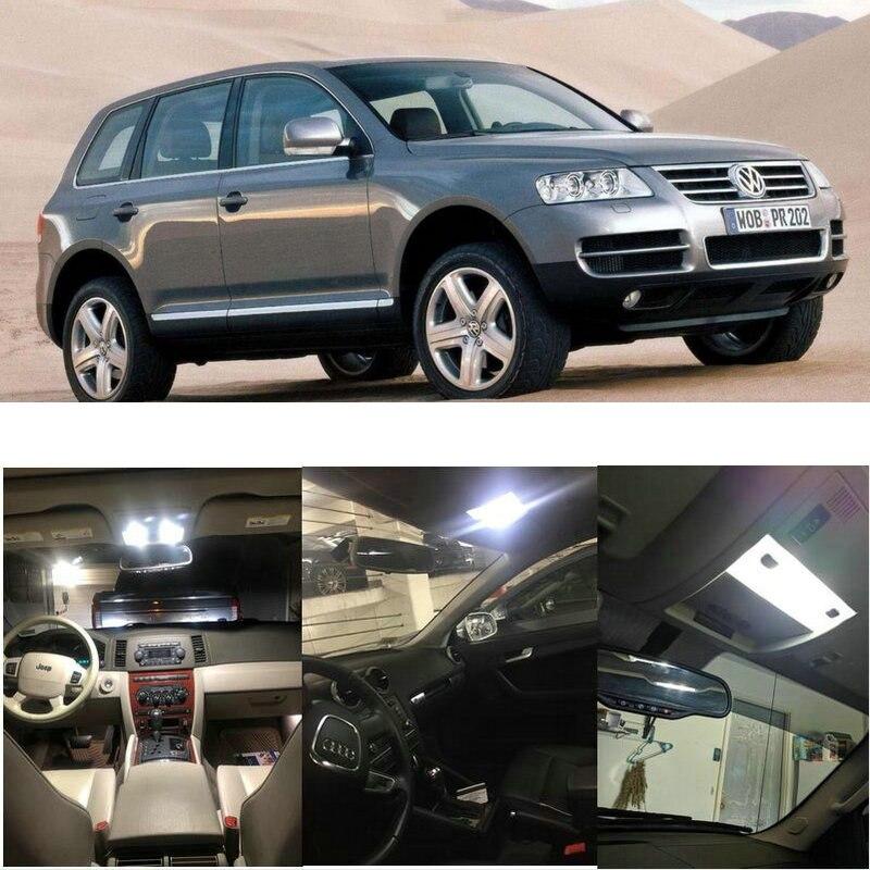 Luces interiores de coche LED para VW touareg 7la 7l6 7l7 7p5 7p6 touran 1t1 1t2 1t3 5t1 accesorios de coche bombilla sin error