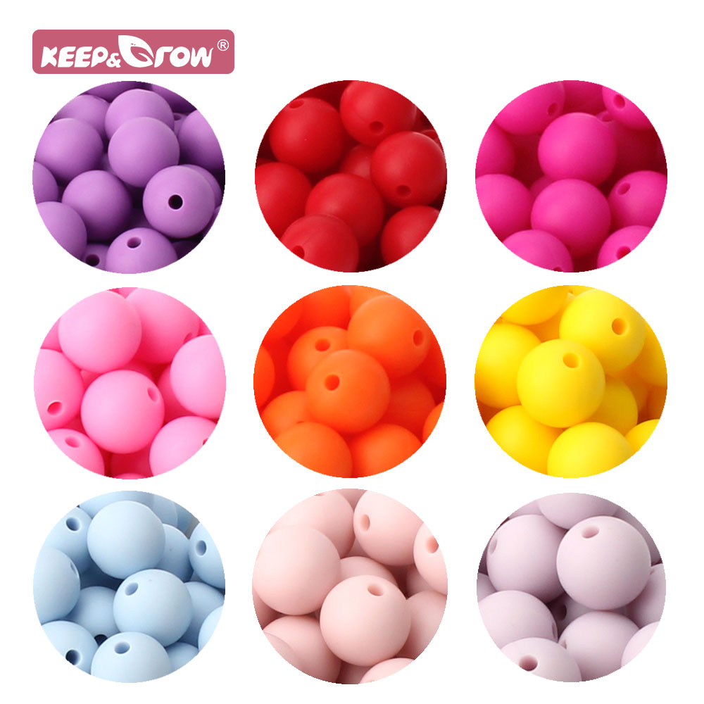 10pcs Silicone Beads 9mm Round Ball Pearl Food Grade PBA Free DIY Pacifier Clip Chain Jewelry Baby Teething Rodent Product Beads