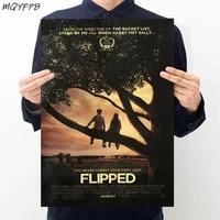 Affiche de film en papier Kraft a rabat  autocollant mural  decoration de maison  peinture