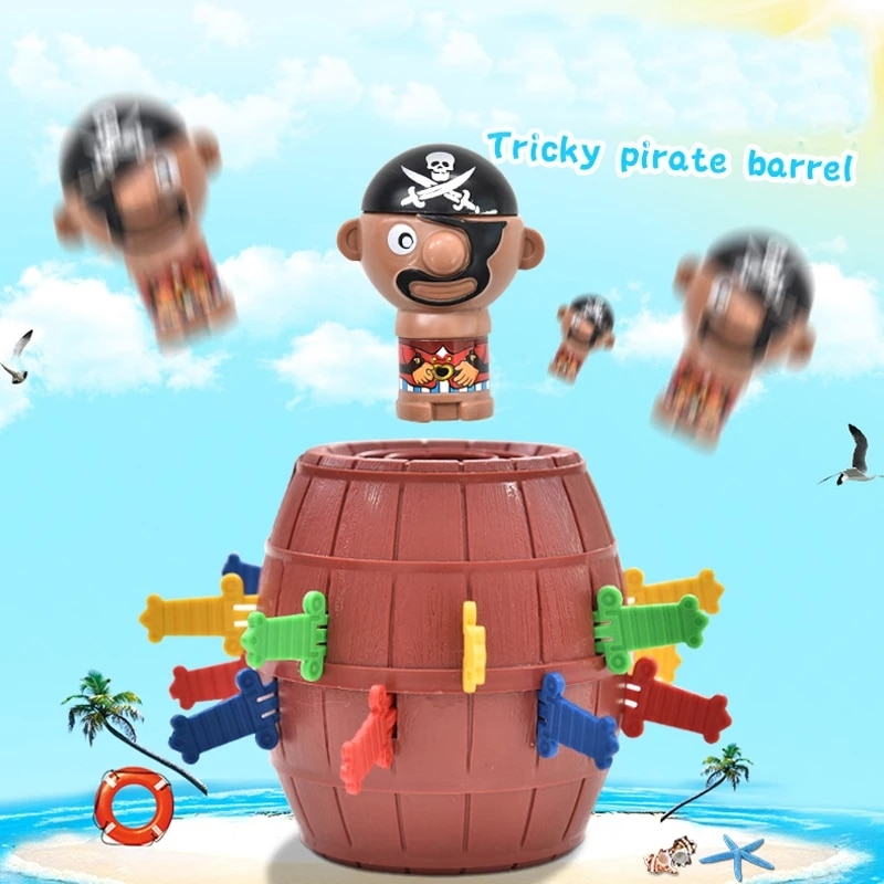 Fun novelty kids fun lucky games gadgets jokes tricky pirate barrel games party decompression games а а трепененкова stories poems jokes and games