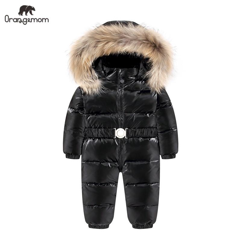 Orangemom الرسمي مخزن طفل الفتيان معطف الثلوج ارتداء ، الدافئة أسفل الشتاء بذلة الرضع معاطف سنوسويت ، طفلة ملابس الشتاء