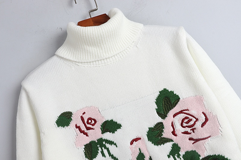 Knit Sweaters Women Pullover Sweater Top Black White  Long Sleeve Casual Sweater enlarge