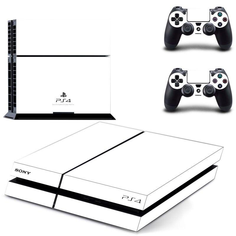Чистый белый прозрачный цвет PS4 стикер s Play station 4 кожи наклейки для playstation 4 PS4 консоли и контроллера Skins