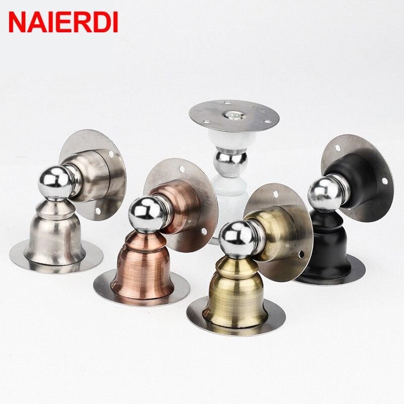 NAIERDI ステンレス鋼磁気ネイル-【送料無料ドアストッパーステッカートイレ隠しドアホルダーキャッチ床ドア停止ドアハードウェア