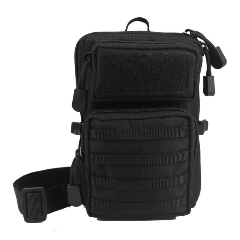 Bolsa táctica Molle, riñonera, Bolso pequeño de bolsillo, bolsa militar para correr, bolsas de Camping, billetera para teléfono, bolsa impermeable Unisex