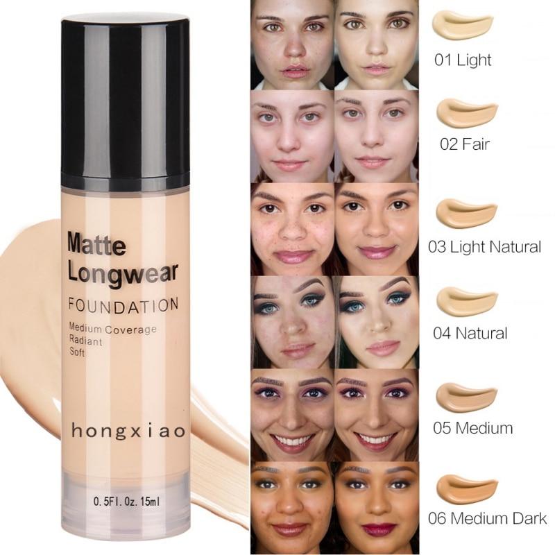 15ml Matte Liquid Foundation Moisturizing Hide Pores Cover Freckles Scars For Skin Tone Makeup Foundation Face Makeup