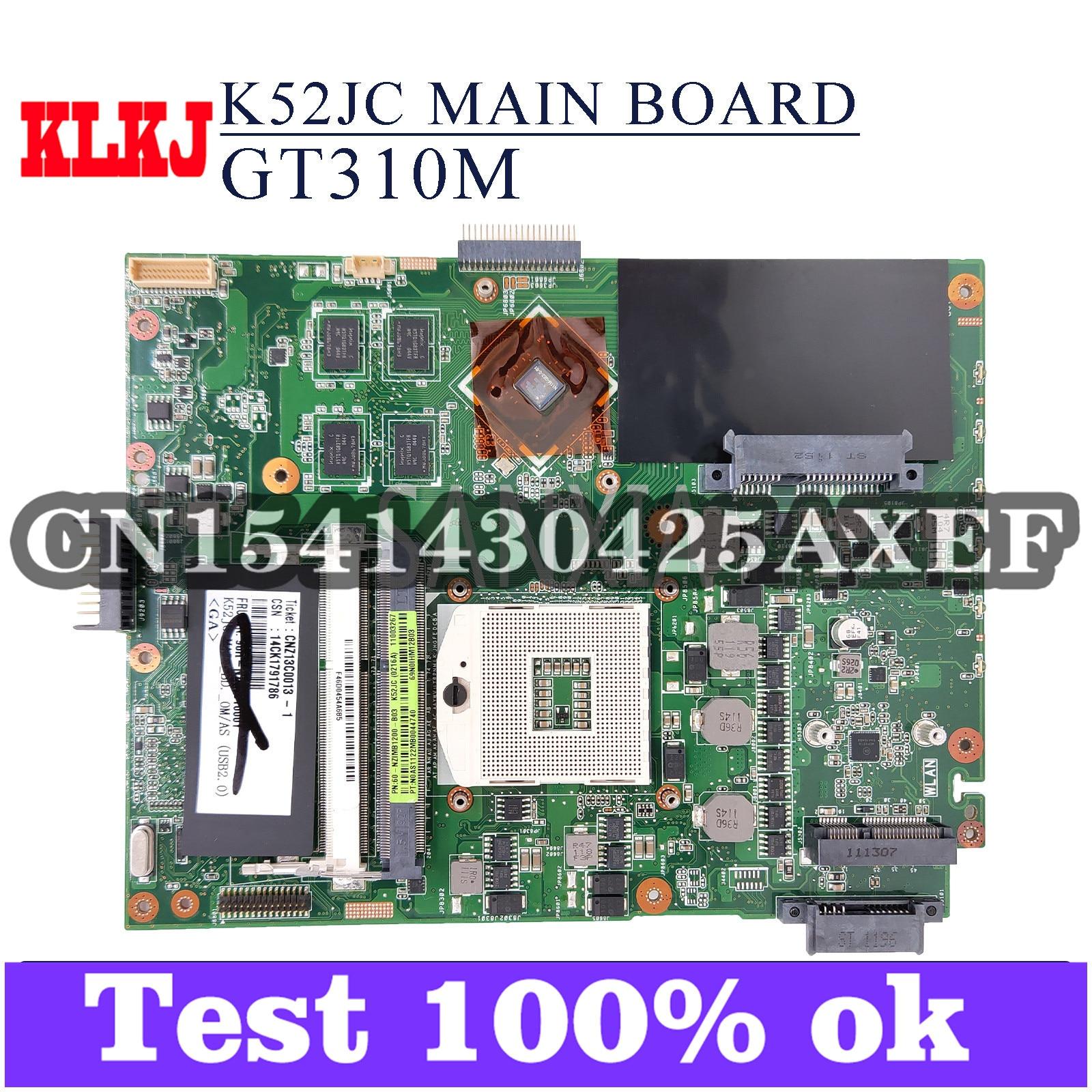 لوحة أم للكمبيوتر المحمول KLKJ K52JC لـ ASUS P52JC K52JT K52J P52J لوحة رئيسية أصلية GT310M