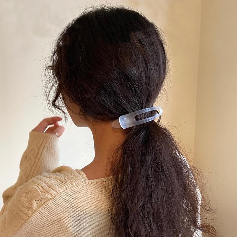 H:HYDE Headdress For Women Matte Horizontal Clip Bathing Plate Hairpin Back Head Large Duckbill Clip Hair Clip
