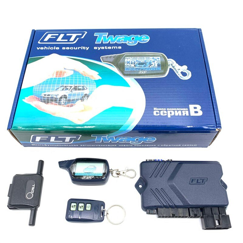 DOXINGYE Russian version B9 Two Way Car Alarm System Car Alarm Security With Engine Autostart Remote