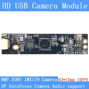 PU`Aimetis HD 800W AF Autofocus SONY IMX179 Mini Surveillance camera 3264*2448 15FPS Audio support USB camera module
