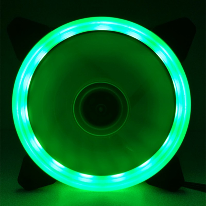 Eclipse do computador 120mm ventilador led 120mm ventilador vermelho azul verde luz guia anel recentemente quente