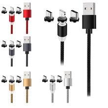 Câble Micro USB magnétique pour Samsung S10 S9 tyec Charge de Charge pour iPhone XS XR 8 7 aimant chargeur USB tyec câble pour Xiaomi