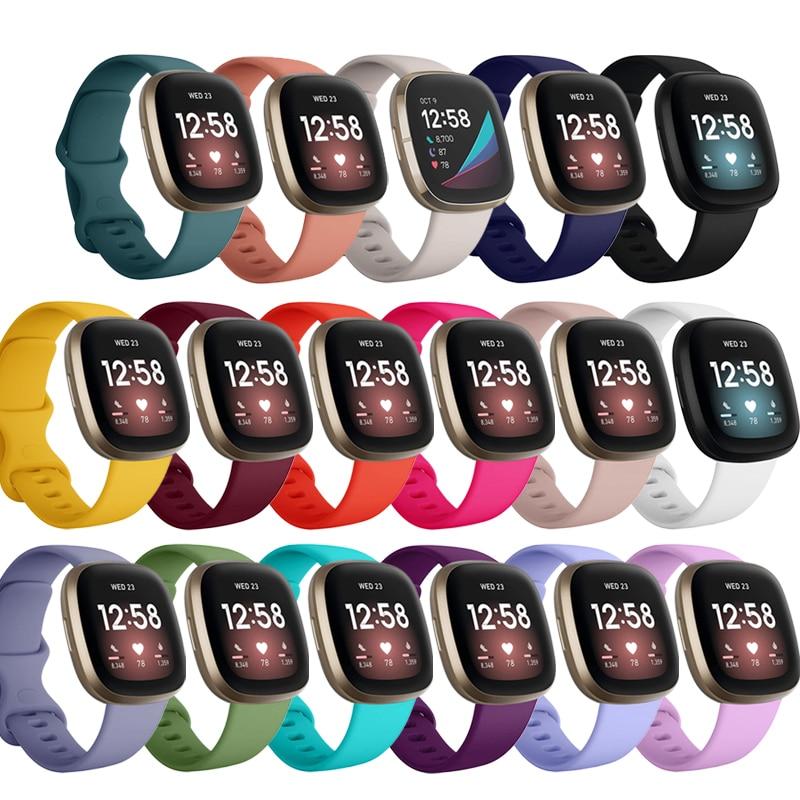 Silicone Band for Fitbit Versa 3 Smart Watch Double-Buck Waterproof Small Large Women Men Bracelet b