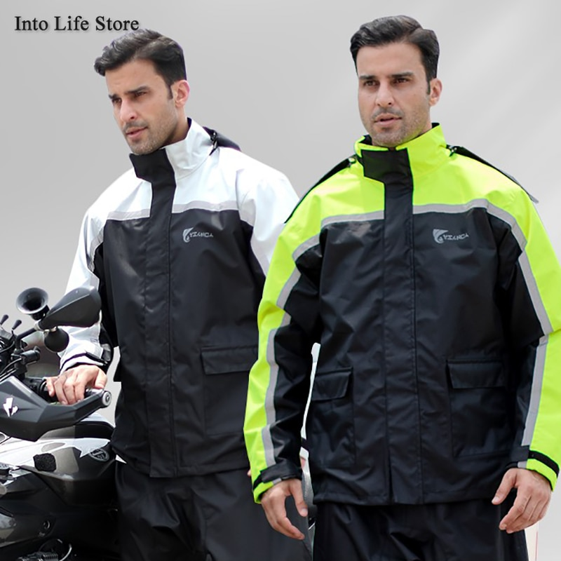 Black Waterproof Raincoat Rain Pants Suit Waterproof Rain Coat Jacket for Men Motorcycle Riding Rain Poncho Men Camping Gift enlarge
