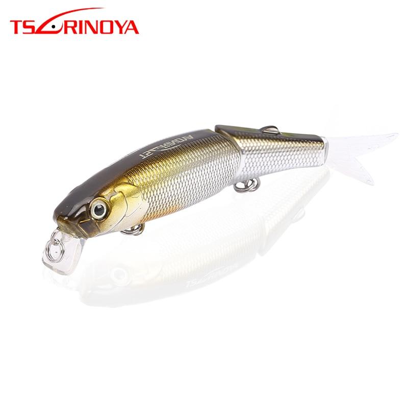 TSURINOYA DW43 88mm 7,2g 1,2 m de profundidad de doble sección de suspensión Minnow señuelo de pesca duro cebo Artificial pesca