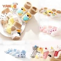 5 pair high quality thicken cartoon comfort cotton newborn socks kids boy new born baby boy girl socks