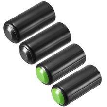 Uxcell-couvercle de batterie 4 pièces   Pour micros PGX24 SLX24 PG58 SM58 BETA58 vert noir