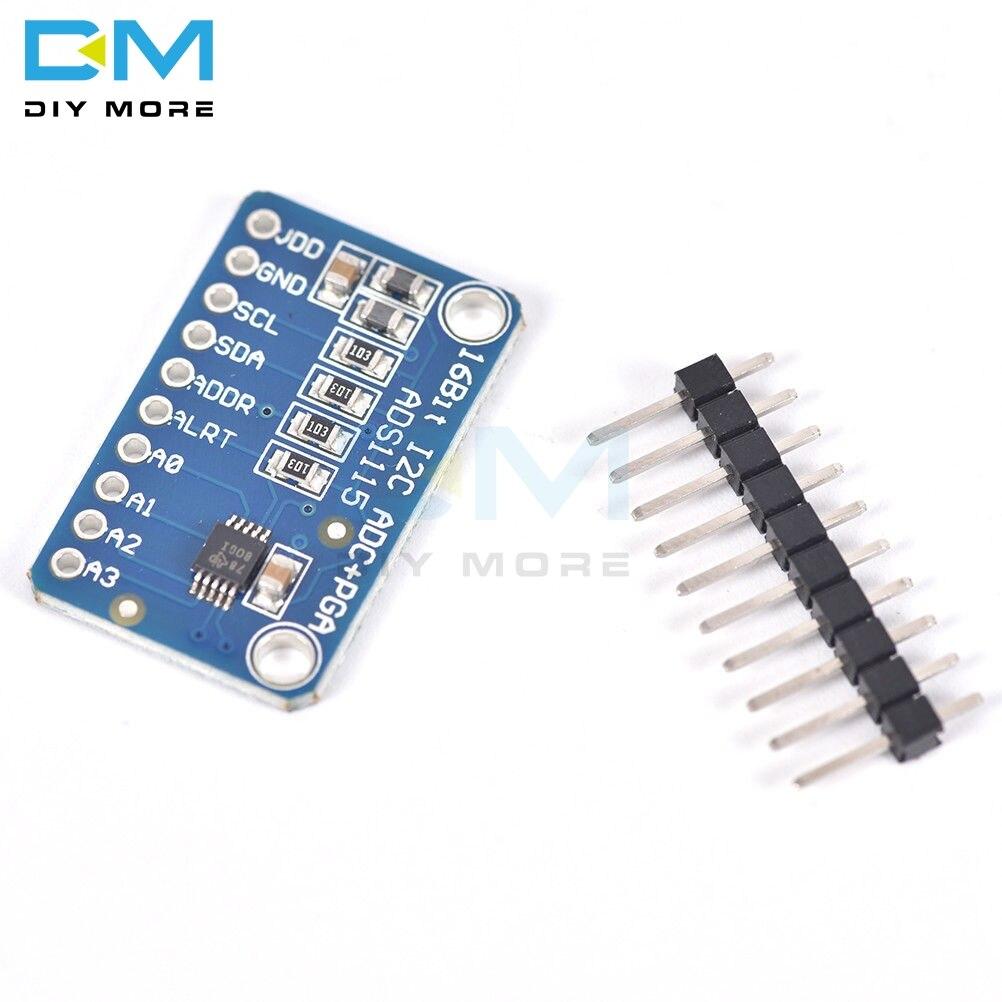 16 бит ADS1115 ADC 4 канала 4CH Pro усилитель усиления плата модуля развития для Arduino RPi ультра компактный интерфейс IIC I2C