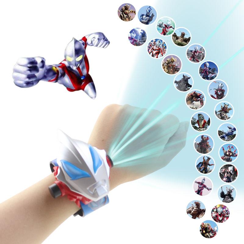 New Cartoon Pattern Projection Digital Children Watches Boys Rubber Strap Dinosaur Kids Wristwatch C