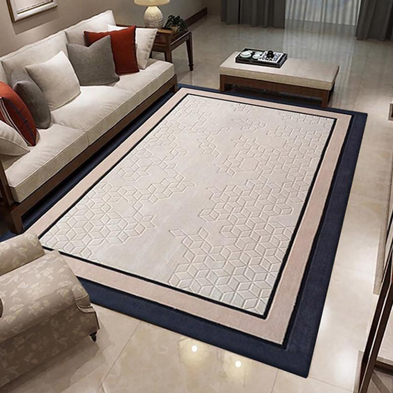 الحديث 100% سجاجيد صوف لغرفة المعيشة بسيطة سميكة منطقة السجاد لغرفة النوم السجاد و السجاد الطابق الجدول الشاي لينة حصيرة