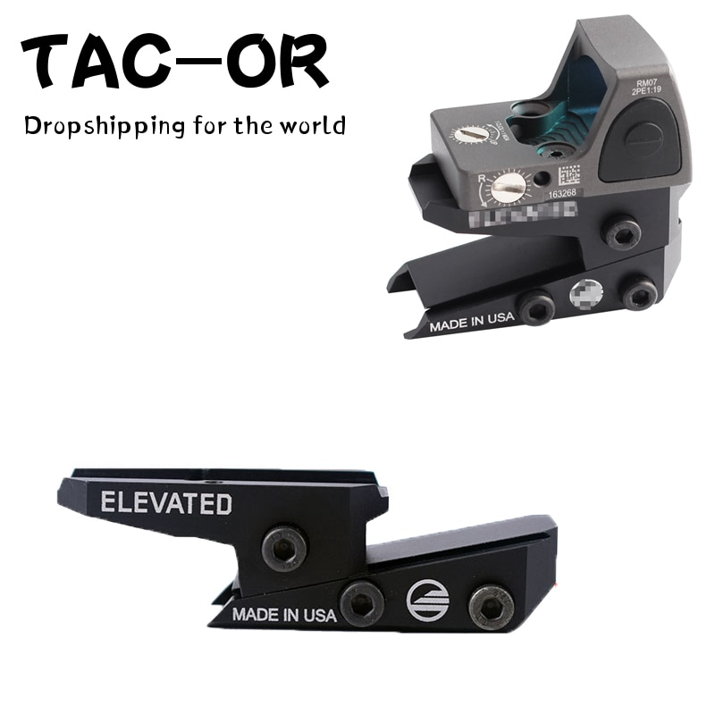 arisaka offset optic mount for red dot sights aimpoint micro t1 t2 h1 h2 trijicon rmr sro sig romeo 5 holosun hs403 hs503 hs515 Tactical CNC Adjustable Height Slide Red Dot Riser Mount Raise Sight Adapter for T1 T2 /Aimpoint/MRO/RMR/Holosun Dropshipping