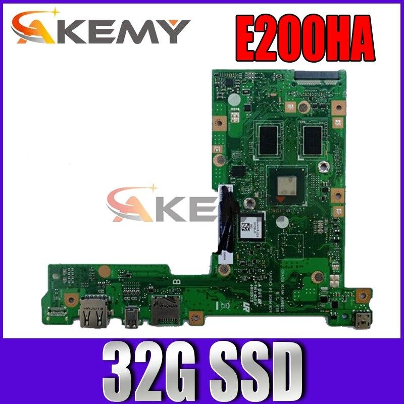 Akemy E200HA لوحة الأم للكمبيوتر المحمول ASUS E200HA E200H E200 اختبار اللوحة الرئيسية الأصلية 32G SSD