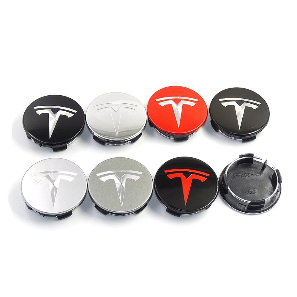 4 шт. 57 мм колпачки ступицы колеса для Tesla модель 3 модель S модель X крышка ступицы автомобиля эмблема значок Автомобильная Наклейка ABS автомобильные аксессуары