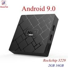 10pcs TV Box HK1 Mini Android 9.0 Rockchip 3229 Quad Core 2GB DDR3 16GB ROM 2.4G WiFi 4K H.265 Smart Media Player SET TOP Box